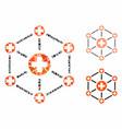 medical network mosaic icon ragged items vector image vector image