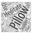 meditation pillow Word Cloud Concept vector image vector image
