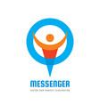 messenger - logo template concept vector image vector image