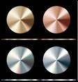 metal gradient template gold silver bronze vector image vector image