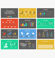 multipurpose presentation template infographic vector image vector image