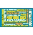Nature gas industry relative words vector image vector image