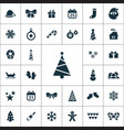 new year icons universal set vector image vector image