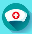 nurse hat icon flat nurse icon vector image