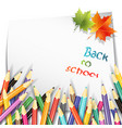 paper sheet colorful pencils vector image vector image