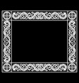 patterned frame in celtic scandinavian vector image vector image