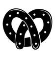 pretzel icon simple black style vector image vector image