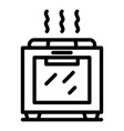 restaurant hot oven icon outline style vector image vector image