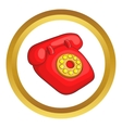 Retro red telephone icon vector image