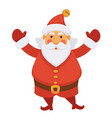 santa claus in new year hat icon for vector image