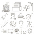 school and education outline icons in set vector image vector image