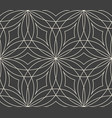 seamless abstract flower pattern on grey vector image vector image