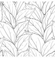 seamless pattern black and white leaves vector image vector image