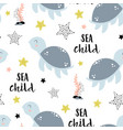 seamless pattern with cute turtle isolated vector image