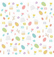 seamless simple pattern with eggs easter cake vector image vector image