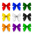 set bows in different colors isolated on white vector image