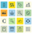 set of 16 ecommerce icons includes shop business vector image vector image