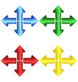 set of 3d colorful round arrows vector image