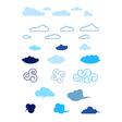 set of cartoon clouds vector image