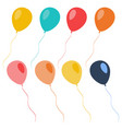 set of colorful celebration balloons vector image vector image