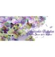 spring flowers watercolor beautiful vector image vector image