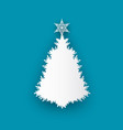 spruce tree topped by star icon isolated vector image vector image