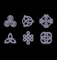 stones celtic symbols vector image
