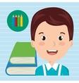 student books school elements vector image vector image
