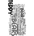 teddy bears as advertisers text background word vector image vector image