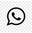 telephone icon simple telephone sign in modern vector image vector image