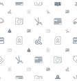 template icons pattern seamless white background vector image vector image