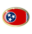 tennessee state seal oval button vector image vector image
