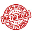 time for review vector image