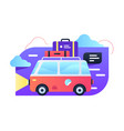 travelling car vector image