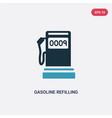 two color gasoline refilling station icon from vector image vector image