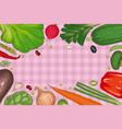 vegetable frame menu template vector image vector image