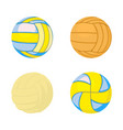 voleyball ball icon set cartoon style vector image