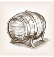 Wine barrel sketch style vector image vector image