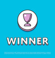 winner colour icon with trophy cup vector image vector image