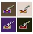 wooden axe isolated on background element for vector image vector image