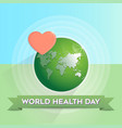 world health day design concept vector image