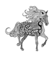 Zentangle stylized Black Horse Hand Drawn doodle vector image vector image