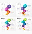 abstract infographic designs timeline vector image vector image