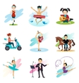 Active lifestyle Hobbies Healthy Lifestyle Set vector image vector image
