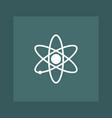 atom icon simple vector image vector image
