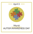 Autism Awareness Day vector image vector image