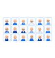 avatars elderly women of heads of pensioner in vector image vector image