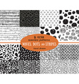 Big set of seamless patterns tiling for abstract vector image vector image