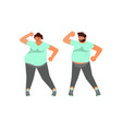 body positive plus size husband and wife dancing vector image vector image