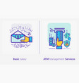 business and finance concept icons basic salary vector image vector image